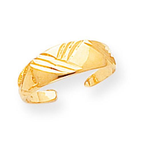 Fancy Toe Ring 14k Gold D1970