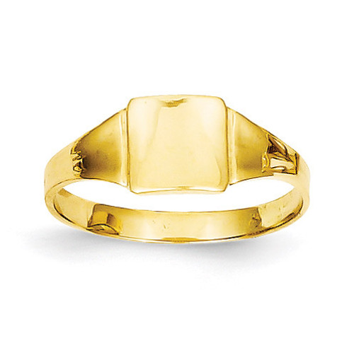 Square Signet Baby Ring 14k Gold D3128