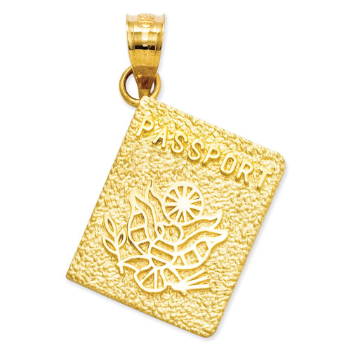 Passport Charm 14k Gold D3316