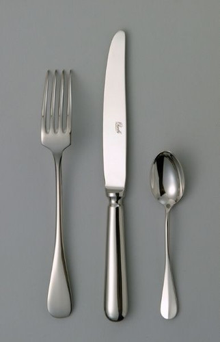 Chambly Baguette Fish Cold Meat Serving Fork - Silver Plated