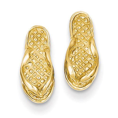 Flip Flop Earrings 14k Gold E904