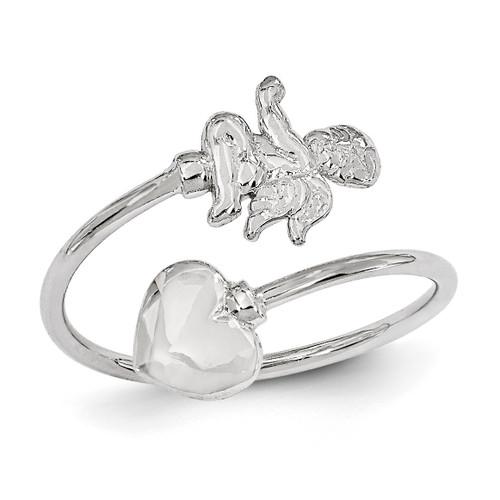 Cupid Toe Ring 14k White Gold K2034