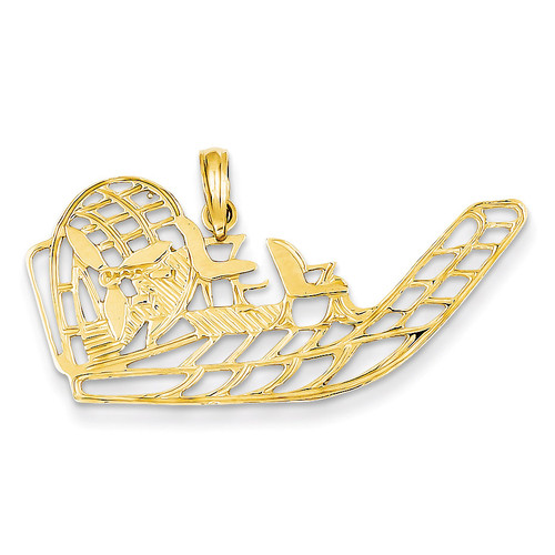 Air Boat Pendant 14k Gold K3102