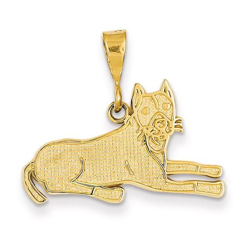 Pit Bull Pendant 14k Gold K3394