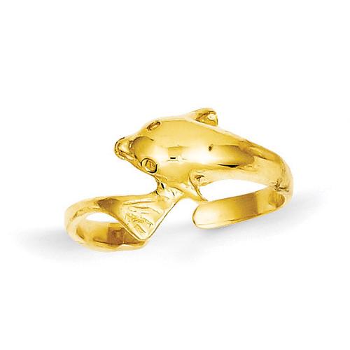 Dolphin Toe Ring 14k Gold K3846