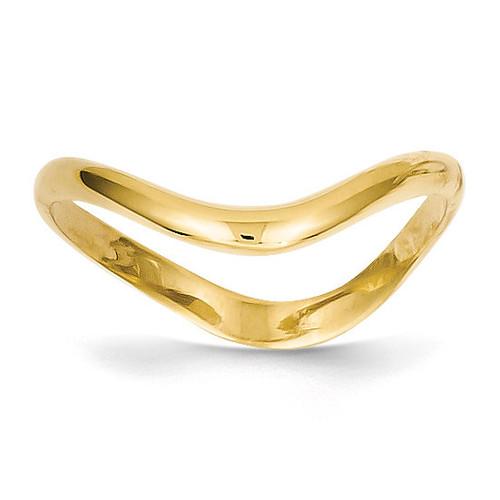 Wave Fashion Thumb Ring 14k Gold K4595