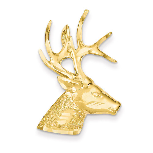 Laser Cut Deer Charm 14k Gold LZ11