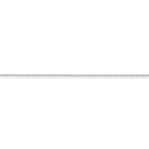 1.1mm Baby Rope Chain 18 Inch 14k White Gold PEN171-18