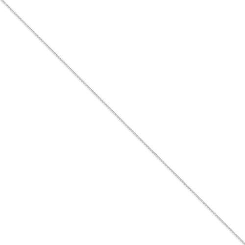 0.75mm Diamond-cut Cable Chain 18 Inch 14k White Gold PEN195-18