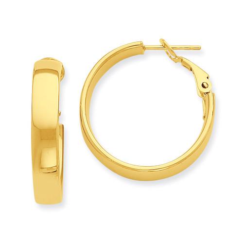 Hoop Earrings 14k Gold PRE733