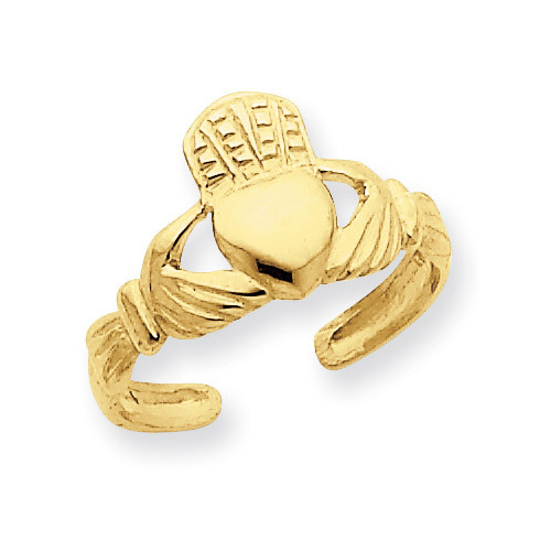 Claddagh Toe Ring 14k Gold R399