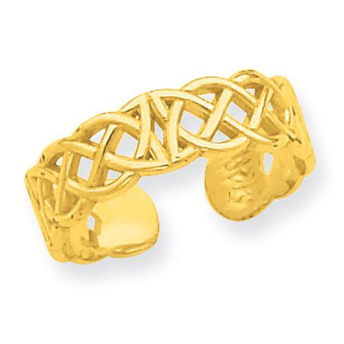 Celtic Toe Ring 14k Gold R549