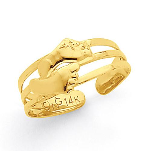Bare Feet Toe Ring 14k Gold R565