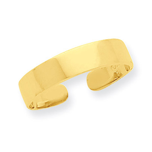 Adjustable Polished Band Toe Ring 14k Gold R567