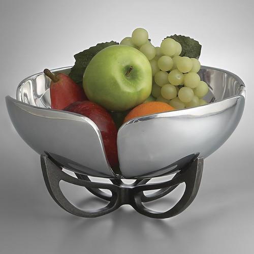 Nambe Anvil Petal Fruit Bowl11 Inch Iron Finish Alloy