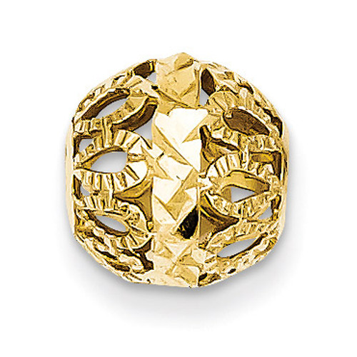 14k Diamond-cut Gold Ball Chain Slide SL135