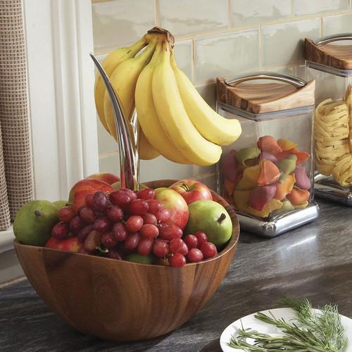 Nambe Fruit Tree Bowl Alloy Wood