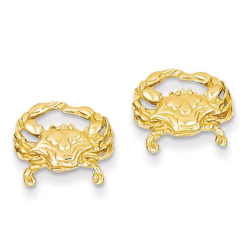 Crab Post Earrings 14k Gold TF524