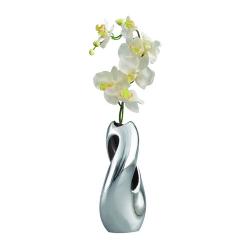Nambe Pebble Twist Bud Vase