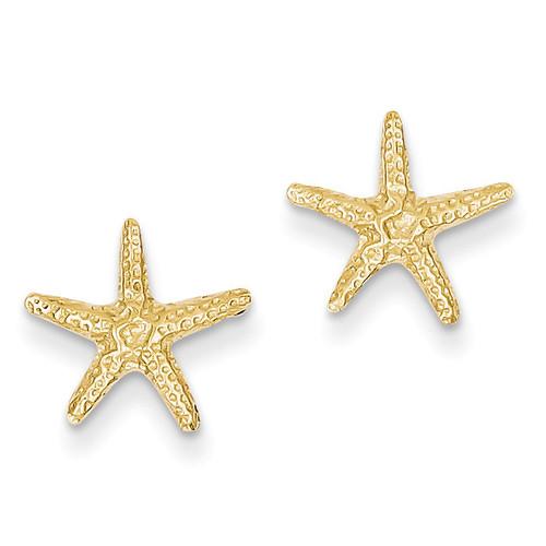Starfish Post Earrings 14k Gold TM766