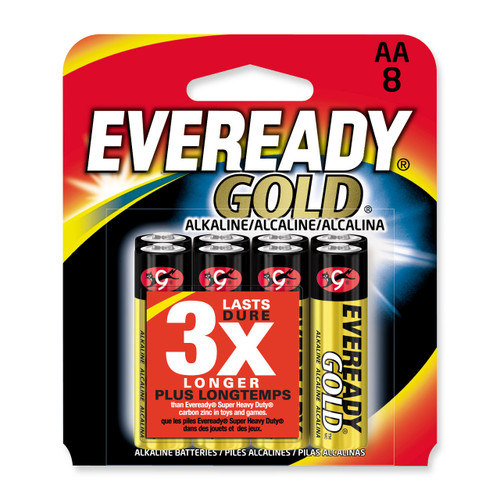 (8) Pack of Eveready Gold Batteries WBAA