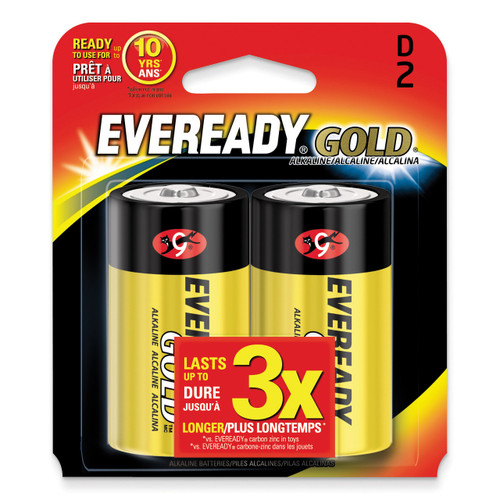 (2) Pack of Eveready Gold D Batteries WBD
