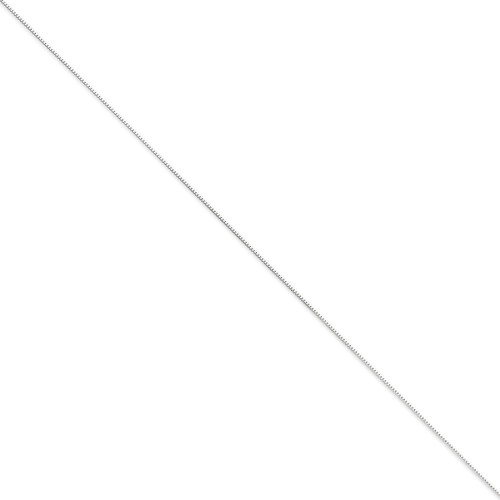 0.70mm Box Chain 16 Inch 14k White Gold WLB050-16