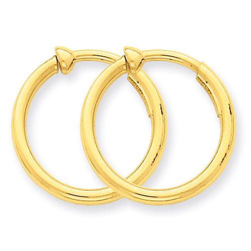 Non-Pierced Hoop Earrings 14k Gold X94