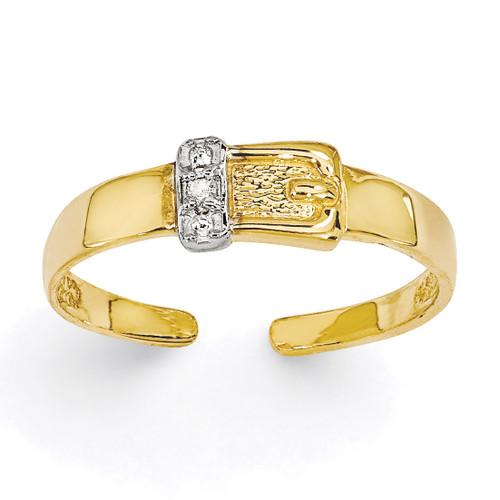 0.01ct Diamond Buckle Toe Ring 14k Gold XCH630