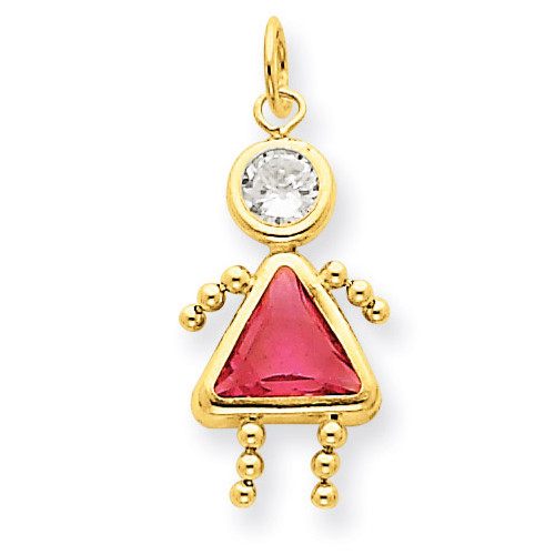 October Girl Birthstone Charm 14k Gold XCK174