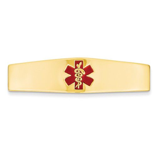 Medical Jewelry ID Plate 14k Gold XM380