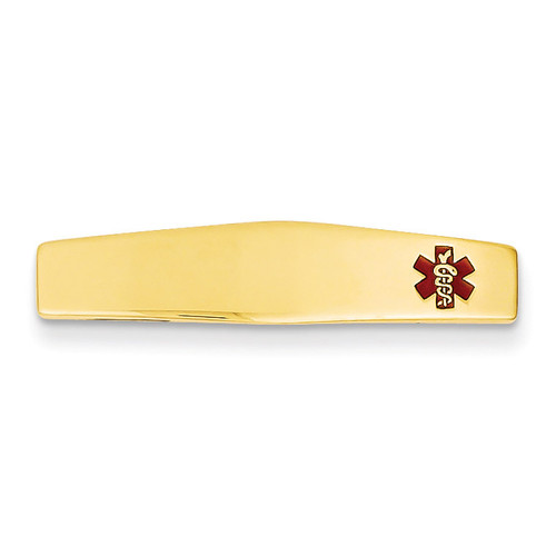 Medical Jewelry ID Plate 14k Gold XM384