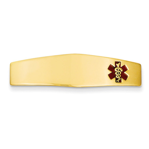 Medical Jewelry ID Plate 14k Gold XM385