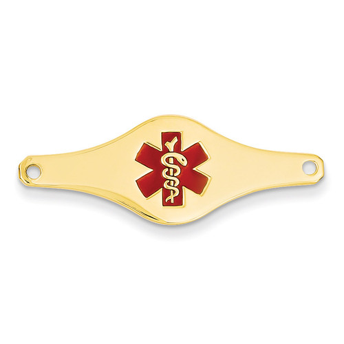 Medical Jewelry ID Plate 14k Gold XM400