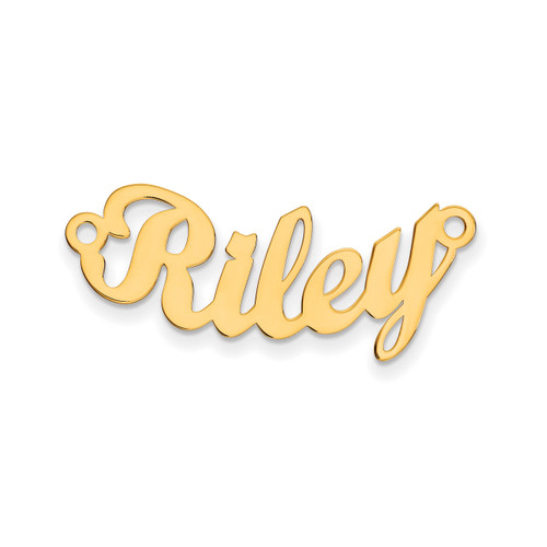 0.013 Gauge Polished Curved Nameplate 14k Gold XNA75Y