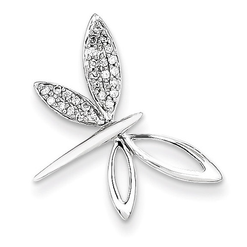 Diamond Dragonfly Chain Slide 14k White Gold XP3067AA