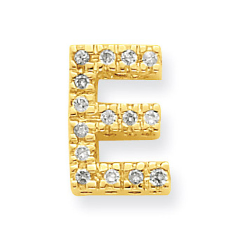 Diamond Initial E Charm 14k Gold XP857E