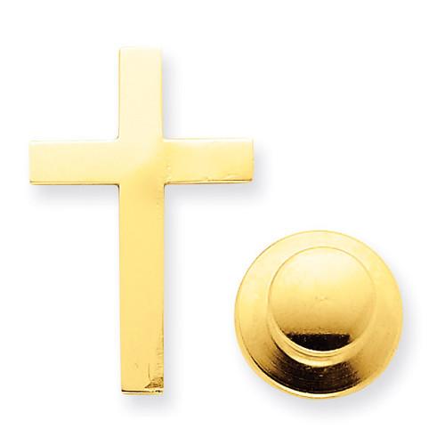 Cross Tie Tac 14k Gold XR463