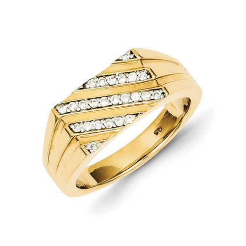 Diamond Mens Ring 14k Gold Y11203AA