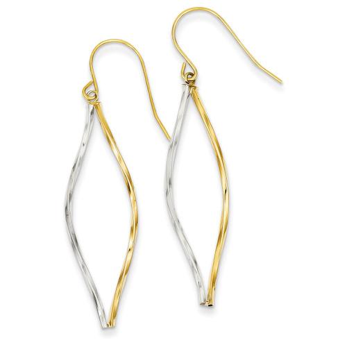 Twist Dangle Earrings 14k Two-Tone Gold YE1511