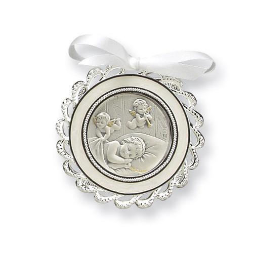 Ivory Crib Medal Sterling Silver GP5486