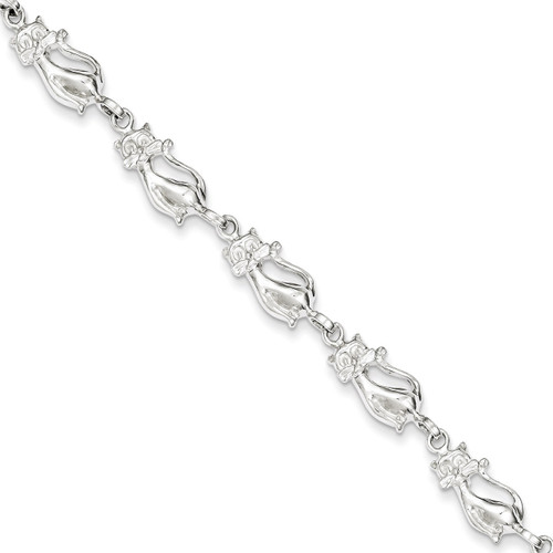 7 Inch Cats Bracelet Sterling Silver QA7-7