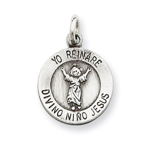 Divino Nino Medal (Divine Infant Jesus) Sterling Silver QC5476