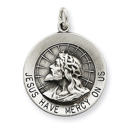 Jesus Have Mercy Medal Sterling Silver QC5498