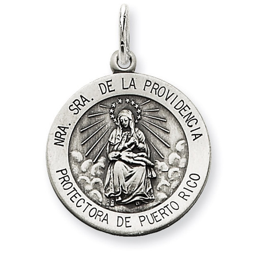 De La Providencia Medal Antiqued Sterling Silver QC5589