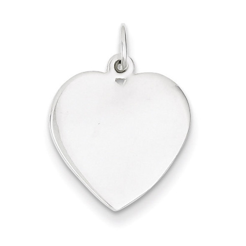 Heart Charm Sterling Silver QC6007