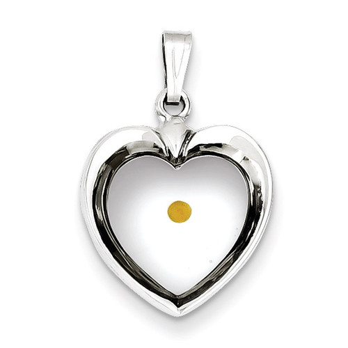Heart with Mustard Seed Pendant Sterling Silver QC7398