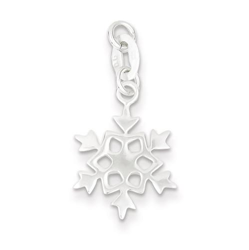 Snowflake Charm Sterling Silver Polished QC7573