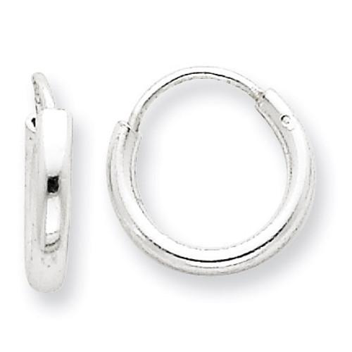 2mm Hoop Earrings Sterling Silver QE4362