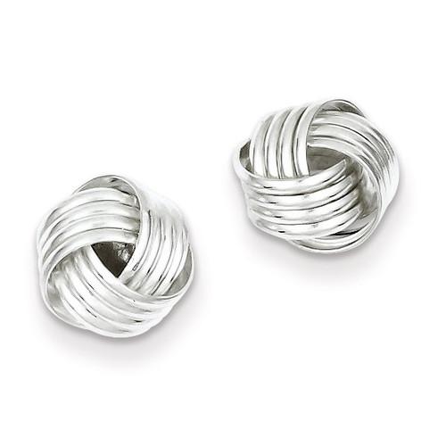 Love Knot Earrings Sterling Silver QE6837